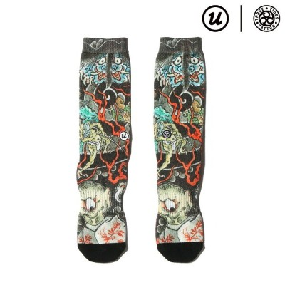 "UBIQ THREE TIDES TATTOO × UBIQ ""IREZUMI"" SOCKS (Youkai) Designed by Ganji (スリータイズタトゥー ユービック..."