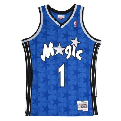 【送料無料】MITCHELL & NESS SWINGMAN JERSEY MAGIC 00-01 #1 T.MCGRADY【353JA3MG2FGYYNR-BLUE】