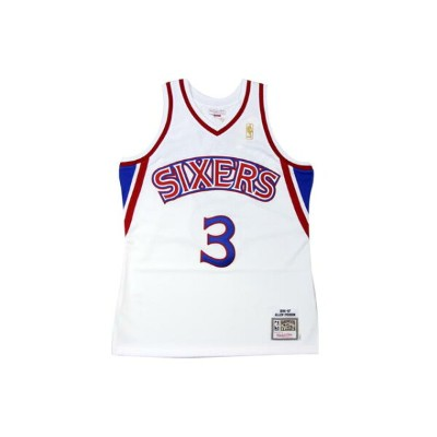 ●MITCHELL&NESS AUTHENTIC THROWBACK JERSEY (NBA/(PHILADELPHIA 76ERS/96-97/ALLEN IVERSON: WHITE)ミッチェル...