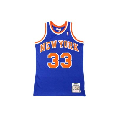 MITCHELL&NESS AUTHENTIC THROWBACK JERSEY (NEW YORK KNICKS 1991-92/PATRICK EWING: BLUE)ミッチェル&ネス...