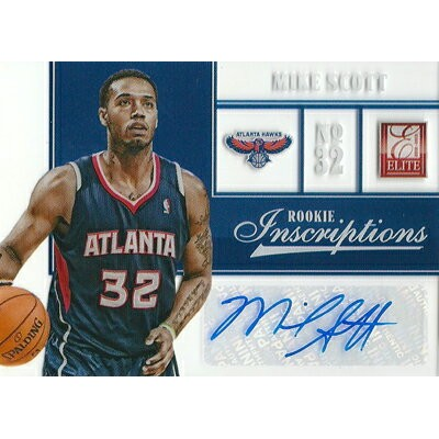 マイク・スコット NBAカード Mike Scott 12/13 Panini Elite Rookie Inscriptions