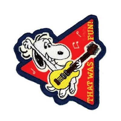 SNOOPY VINTAGE ワッペン ギター  スヌーピー 2WAY WAPPEN