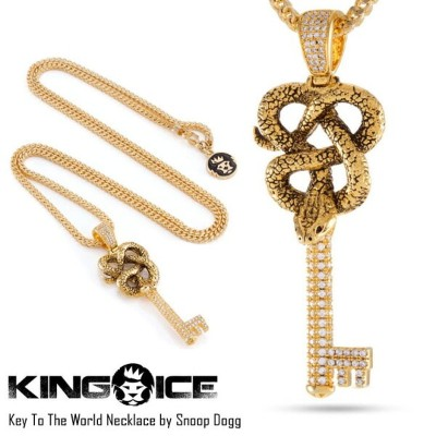 KING ICE キングアイス KEY TO THE WORLD NECKLACE BY SNOOP DOGG メンズ レディース ネックレス ゴールド ONE SIZE