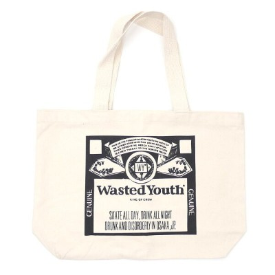 d2f7d971950c ウェイステッド ユース WASTED YOUTH TOTE BAG トートバッグ NATURAL ナチュラル メンズ 【新品】 277002576