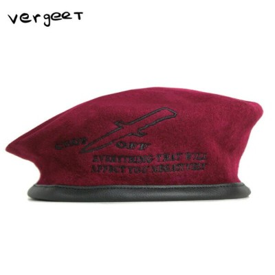 2019 NEW YEAR SALE ★ 30% - 80%OFF VERGEET (フェルヘート) CHOP OFF BERET HAT (RED) [ベレー帽/アーミー/ミリタリー/グラフィック...