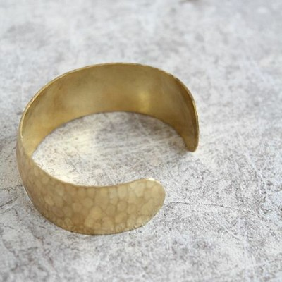 "WE SEE STARS(ウィーシースターズ) カフバングル HAMMERED SMALL BRASS CUFF""HDSBC"""
