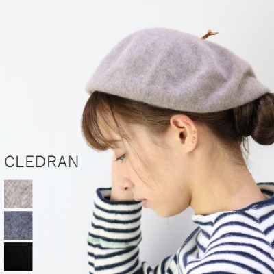 【クーポン対象外】 CLEDRAN(クレドラン)ACCENT SETIESCASHMERE BIG BERET 3colormade in Japan cl-2846