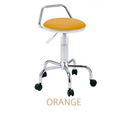 Chair チェア 360度回転 カウンターチェア カラー:オレンジ