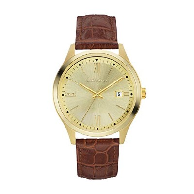 ブローバ 腕時計 メンズ Caravelle Men's Quartz Stainless Steel and Leather Watch, Color:Brown (Model: 44B119...
