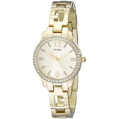 ゲス GUESS 腕時計 レディース U0568L2 GUESS Women's U0568L2 Iconic Gold-Tone Logo Watch with Genuine Crystals ...