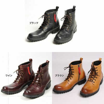 DEGNER:デグナーHS-B6 シフトガード付レザーZIPブーツ【3カラー】LEATHER ZIP BOOTS WITH SHIFT GUARD