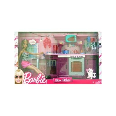 Barbie Glam Kitchen Play Set