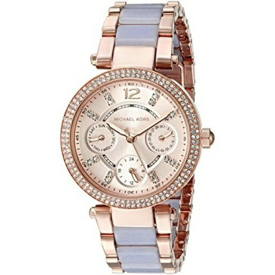 マイケルコース Michael Kors レディース 腕時計 時計 Michael Kors Women's Mini Parker Rose Gold-Tone Watch MK6327