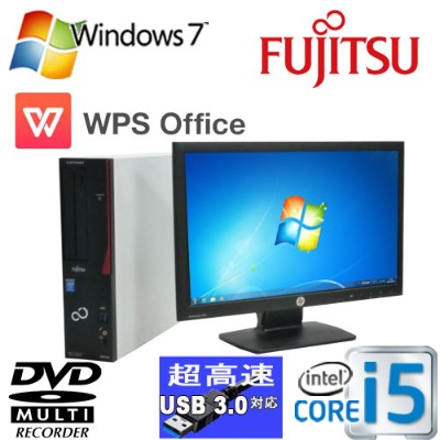 富士通 FMV-D583 Core i5 4570(3.2Ghz) /メモリ4GB HDD500GB /DVD-ROM /Office_WPS2017 /20型ワイド液晶 /Windows7Pro...