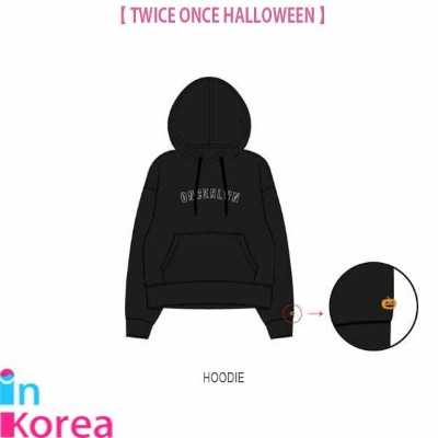 TWICE フードパーカー / K-POP TWICE ONCE HALLOWEEN OFFICIAL GOODS HOODIE トゥワイス 公式グッズ