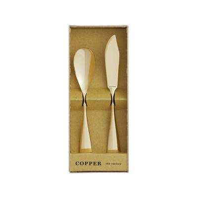 COPPER the cutlery ギフトセット 2pc /Gold mirror (アイスクリームスプーン&バターナイフ)_送料無料