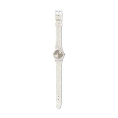 スウォッチ 腕時計 レディース Swatch Originals Glistar Silver Dial Silicone Strap Ladies Watch LK343Eスウォッチ 腕時計...