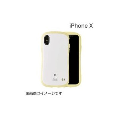 HAMEE iPhone X用 iFace First Class Pastelケース ホワイト/イエロー IP8IFACEPASTELWHYE