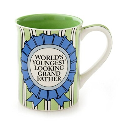 Enesco Our Name is Mud by Lorrie Veasey Youngest Grandfather Mug, 4.5インチ, Multicolor