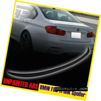 エアロパーツ UNPAINTED BMW 3-SERIES F80 M3 TYPE REAR BOOT LIP TRUNK SPOILER WING 14-15 ▼ 未装着BMW 3シリーズF80...