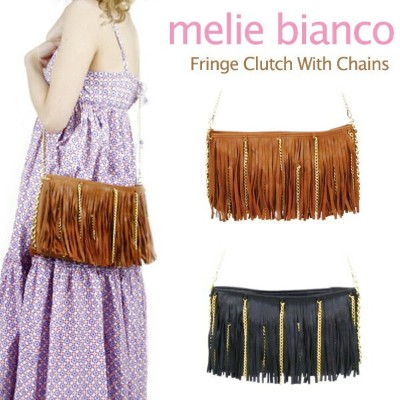 melie bianco Fringe Clutch With Chains メリービアンコ チェーン ショルダーバッグ クラッチバッグ【楽ギフ_包装選択】【r】[CC]