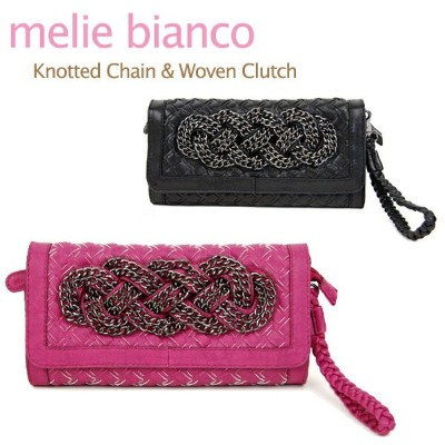 melie bianco Knotted Chain & Woven Clutch メリービアンコ チェーン クラッチバッグ【楽ギフ_包装選択】【r】[CC]