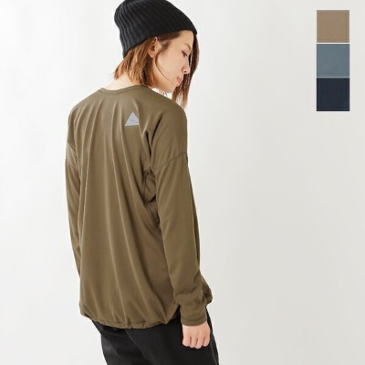 "and wander(アンドワンダー)ドライジャージーロングTシャツ""dry jersey long sleeve T for WOMEN"" aw83-jt926-fn"
