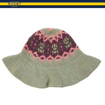 WOMEN RUGBY by Ralph Lauren Fairisle Bucket Hat ラグビー レディース ニット帽 ハット
