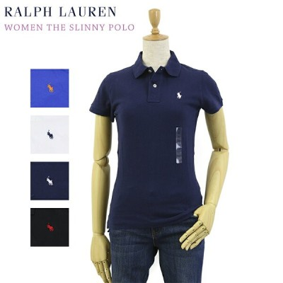 """Ralph Lauren Lady's """"THE SKINNY POLO"""" Solid Color Mesh Polo Shirts USラルフローレン レディース 無地ポロシャツ"""