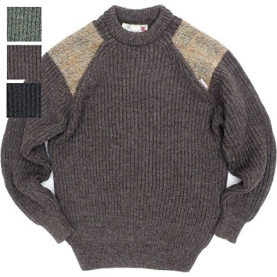 KEMPTON(ケンプトン)Woolly Pully HARRIS TWEED HUNTING SWEATER [DARK GRAY][DERBY TWEED][CHARCOAL GRAY]