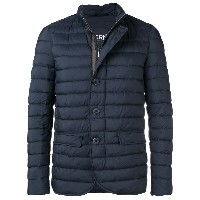 Herno quilted high neck jacket - ブルー