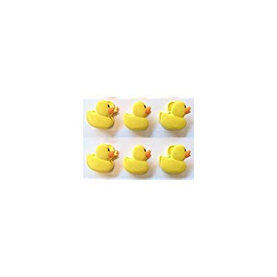 Six Total Yellow Duckie or Duck Chip Clips by Power Clips
