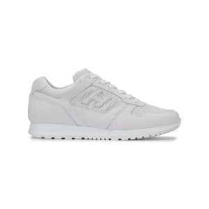 Hogan perforated lace-up sneakers - ホワイト