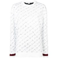 Stella McCartney monogram jumper - ホワイト