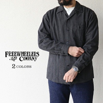 FREEWHEELERS フリーホイーラーズ JOHNNY OPEN COLLAR SHIRT 1950 - 1960s SUBTERRANEANS STYLE SHIRT GRAINED...