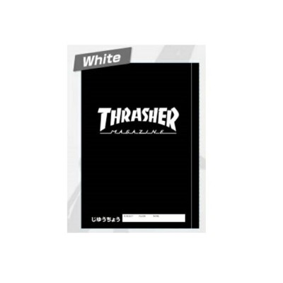 THRASHER/スラッシャー 自由帳(White)★THRASHER MAGAZINE★ [468846]