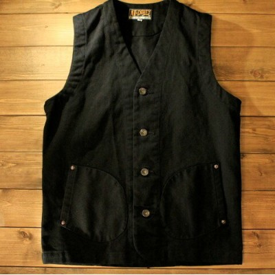 """AT-DIRTY""""WORKERS VEST""""BLACK【AT-DIRTY】(アットダーティー)正規取扱店(Official Dealer)Cannon Ball(キャノンボール)【あす楽対応..."""