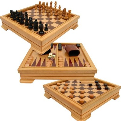ボードゲーム 英語 アメリカ 海外ゲーム 12-2072 Trademark Games Deluxe 7-in-1 Game Set - Chess, Checkers, Backgammon...