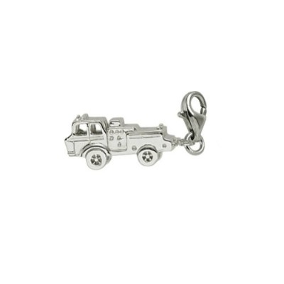 Firetruckチャームwith Lobster Claw Clasp、チャームブレスレットとネックレス用