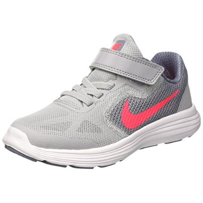Nike nike revolution 3 (psv) [819417-003] wolf grey/solar red-dark sky blue-white-110