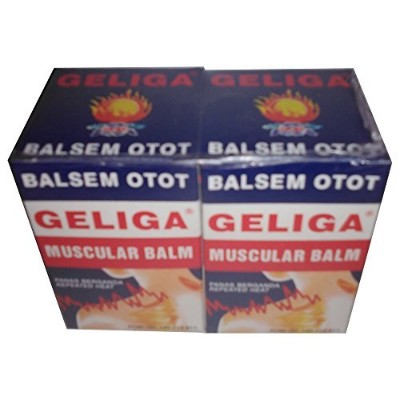 Geliga Balsem Otot Muscular Balm with Repeated Heat, 1.41 Oz (Pack of 2) by Geliga