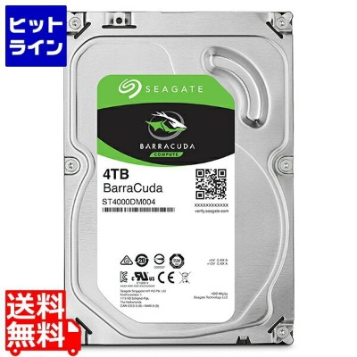 シーゲイト ( Seagate ) Guardian Barracudaシリーズ 3.5インチ内蔵HDD 4TB SATA 6.0Gb/s 5400rpm 256MB ST4000DM004