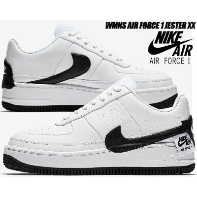 NIKE WMNS AF1 JESTER XX white/black 【ナイキ ウィメンズ AF1 ジェスター スニーカー レディース エア フォース 1 AIR FORCE 1】
