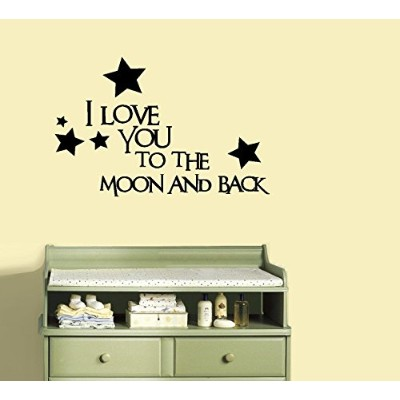 """I Love You To The Moon And Back # 1 ~壁デカール、13 """" x 20 """""""