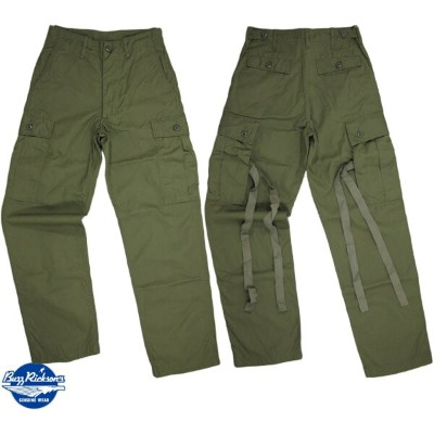 BUZZ RICKSON'S/バズリクソンズ TROUSERS, MEN'S, COTTON WIND RESISTANT POPLIN,OLIVE GREEN, ARMY SHADE 107...