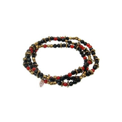 amp japan(アンプジャパン)11AHK-691 3重ブレスレット1重ネックレス 2重アンクレットRed Agate Onyx Necklace【レッドアゲート/オニキス】アンティーク...