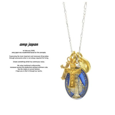 amp japan アンプジャパン 16AHK-177 Grand Medaille Miraculeuse Mix Necklace -Blue Epoxy-AMP JAPAN 真鍮 シルバー...