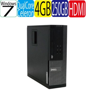 DELL Optiplex 3010SF Celeron Dual Core G530(2.4GHz) メモリ4GB HDD250GB DVD-ROM HDMI Windows7 Pro 32bit...