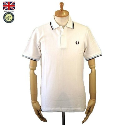 Fred Perry フレッド・ペリー M12 Men's Twin Tipped Fred Perry Polo Shirt 120 White/Ice/Maroon メンズ ツイン ティップ...