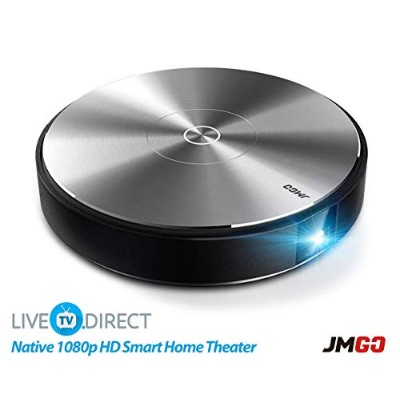 JmGO G3 PRO Home Theater Projector 1080p HD Android Smart Projector DLP 3D Projector with LiveTV...